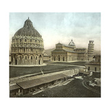 Pisa (Italy), the Baptistery, the Cathedral and the Leaning Tower (Bell Tower), Circa 1895 Photographic Print by Levy et Fils, Leon