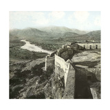 Sagunto (Formerly Murviedro, Spain), the Castle and the Surrounding Mountains, Circa 1885-1890 Photographic Print by Levy et Fils, Leon