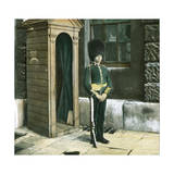London (England), Soldier on Guard Duty in Front of Saint James Palace Photographic Print by Levy et Fils, Leon