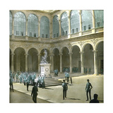 Toledo (Spain), Courtyard of the Alcazar Photographic Print by Levy et Fils, Leon