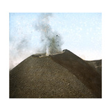 Italy, Vesuvius, Crater Photographic Print by Levy et Fils, Leon
