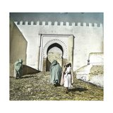 Tangier (Morocco), the Casbah Gate, from the City-Side, Circa 1885 Photographic Print by Levy et Fils, Leon