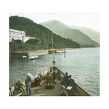 Bellagio (Italy), Hotel at the Edge of Lake Como Photographic Print by Levy et Fils, Leon