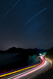 Stars and Traffics Trails Photographic Print by Photo By Tom Liang _ ROC Taiwan