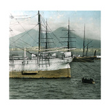 Naples (Italy), the Port and Vesuvius Photographic Print by Levy et Fils, Leon