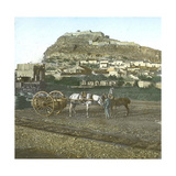 Sagunto (Formerly Murviedro, Spain), Overview Taken from the Station, Circa 1885-1890 Photographic Print by Levy et Fils, Leon