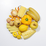 A Selection of Yellow Fruits & Vegetables. Photographic Print by David Malan