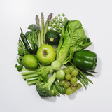A Selection of Green Fruits & Vegetables. Photographic Print by David Malan