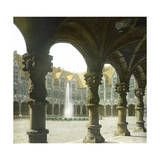 Liege (Belgium), the Courtyard and Gallery of the Law Courts Photographic Print by Levy et Fils, Leon