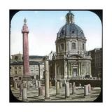 Rome (Italy), Trajan's Forum, Circa 1895 Photographic Print by Levy et Fils, Leon