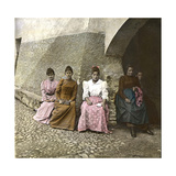 Italian Women from Torno, at the Edge of Lake Como, Circa 1890 Photographic Print by Levy et Fils, Leon