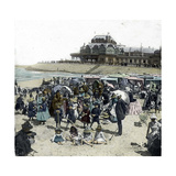 Ostend (Belgium), the Beach and the Kursaal, Circa 1880 Photographic Print by Levy et Fils, Leon