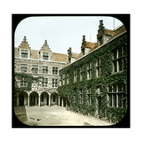 Antwerp (Belgium), the Courtyard of the Plantin Museum, Circa 1870 Photographic Print by Levy et Fils, Leon