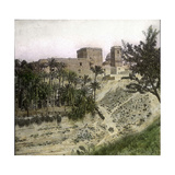 Elche (Spain), the Castle of the Duke of Altamira, Circa 1885-1890 Photographic Print by Levy et Fils, Leon
