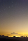 Mt. Fuji and Star Trails Photographic Print by  huayang