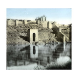 Toledo (Spain), the Banks of the Tagus River Photographic Print by Levy et Fils, Leon