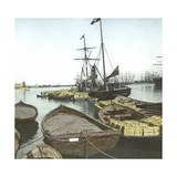 Valencia (Spain), the Port of El Grao, Circa 1885-1890 Photographic Print by Levy et Fils, Leon