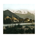Saint-Martin (Savoy) and the Mont Blanc Photographic Print by Levy et Fils, Leon