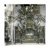 The Vatican, Rome (Italy), Saint-Peter's Basilica,, Saint Peter's Pulpit, Circa 1895 Photographic Print by Levy et Fils, Leon