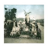 Turin (Italy), the Cemetery, Abani Gaudenzio's Grave, Circa 1890 Photographic Print by Levy et Fils, Leon