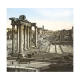 Rome (Italy), Roman Forum, Temple of Saturn, Circa 1895 Photographic Print by Levy et Fils, Leon