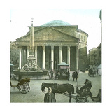 Rome (Italy), Pantheon, Circa 1895 Photographic Print by Levy et Fils, Leon