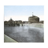 Rome (Italy), Castel Sant Angelo (Or Hadrian's Mausoleum), Circa 1895 Photographic Print by Levy et Fils, Leon