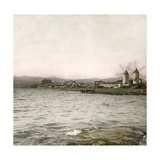 Palma (Island of Majorca, Balearics, Spain), the Suburb of Molinar Seen from the Sea, Circa 1895 Photographic Print by Levy et Fils, Leon