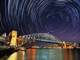 Star-Trail over Sydney Photographic Print by  AtomicZen