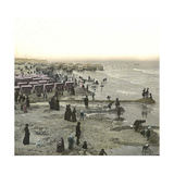 Ostend (Belgium), the Beach, Circa 1880 Photographic Print by Levy et Fils, Leon