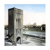 Florence (Italy), the San Niccolo Gate (1324) and the Arno, Circa 1895 Photographic Print by Levy et Fils, Leon