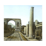 Pompeii (Italy), the Arch of Triumph and the Forum Road, Circa 1890-1895 Photographic Print by Levy et Fils, Leon