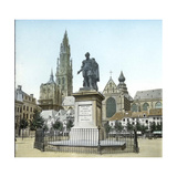 Antwerp (Belgium), Statue of the Flemish Painter Pierre Paul Rubens's (1577-1640) Photographic Print by Levy et Fils, Leon