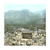 Monreale (Sicily, Italy), Overview with the Cathedral, Circa 1860 Photographic Print by Levy et Fils, Leon