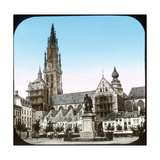 Antwerp (Belgium), Groenplaats and the Cathedral Photographic Print by Levy et Fils, Leon