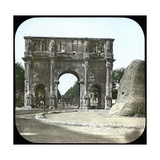 Rome (Italy), the Palatine, the Arch of Constantine, Circa 1895 Photographic Print by Levy et Fils, Leon