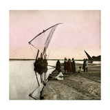 The Nile (Egypt), Dahabieh Photographic Print by Levy et Fils, Leon