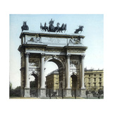 Milan (Italy), the Arch of the Peace (L, Cagnola, Architect, on 1807), Circa 1890 Photographic Print by Levy et Fils, Leon