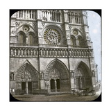 Notre Dame De Paris Cathedral, of the Porch, Paris (IVth Arrondissement), Circa 1860 Photographic Print by Levy et Fils, Leon