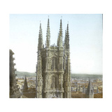 Burgos (Spain), the Cathedral, the Chancel's Tower Photographic Print by Levy et Fils, Leon