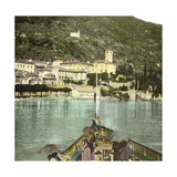 Dongo (Italy), the Village Seen of Lake Como, Circa 1890 Photographic Print by Levy et Fils, Leon