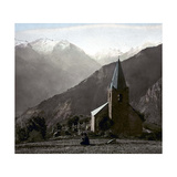 The Alpe-D'Huez (Isère, France), Saint-Ferreol Chapel, Circa 1890-1895 Photographic Print by Levy et Fils, Leon
