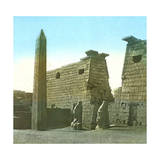 Luxor (Egypt), Obelisk and Mast Photographic Print by Levy et Fils, Leon