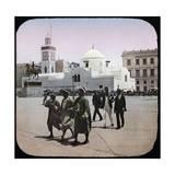 Algiers (Algeria), the Mosque Djemaa Djedid and the Statue of Duke of Orlêans, Algiers (Algeria) Photographic Print by Levy et Fils, Leon