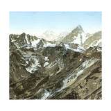 Grand-Saint-Bernard (Switzerland), the Mont Blanc and the Grande Jorasse Photographic Print by Levy et Fils, Leon
