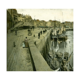 Le Treport (Seine-Maritime, France), the Quays and the Port, Circa 1890-1895 Photographic Print by Levy et Fils, Leon