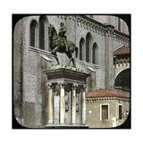 Equestrian Statue of Bartolomeo Colleoni, Venice, Campo Dei Santi Giovanni E Paolo, Circa 1890-1895 Photographic Print by Levy et Fils, Leon