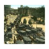 Santiago De Chile (Chile), Street Scene, around 1900 Fotografisk tryk af Levy et Fils,  Leon