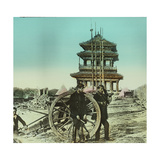 Second Opium War (1857-1860), Cannon on the Ramparts of the Takou Fort in Tang Kho Photographic Print by Levy et Fils, Leon