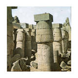 Karnak (Egypt), Great Hypostyle Room Photographic Print by Levy et Fils, Leon